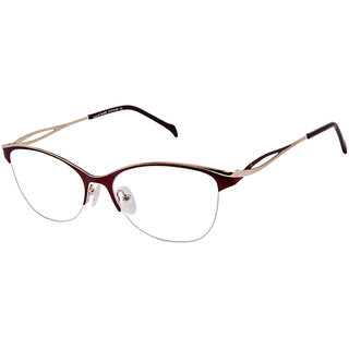 David Blake Maroon Cat-eye Women Spectacle Frame