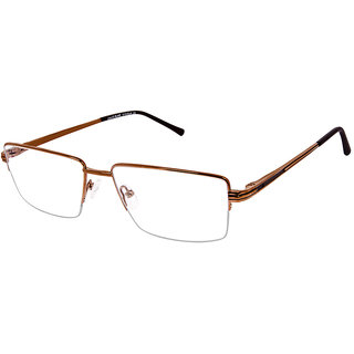 David Blake Brown Rectangular Unisex Spectacle Frame