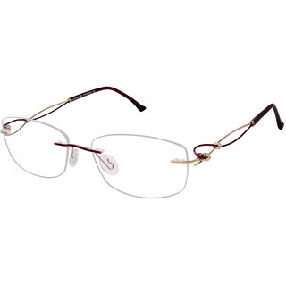 David Blake Maroon Oval Women Spectacle Frame