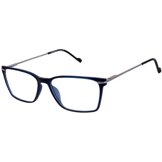 David Blake Blue Rectangular Unisex Spectacle Frame