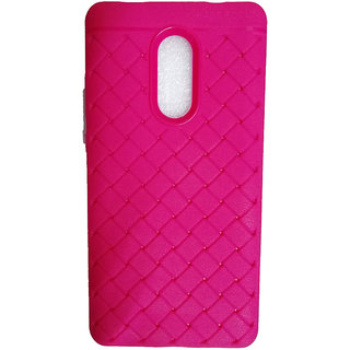 Macsoon Soft Rubber Pink Back Cover For Redmi Note 4