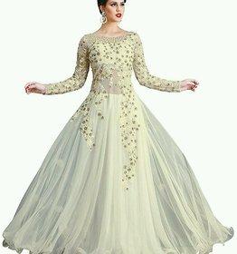 Khusboo Designer World Famous Designer Wedding Party White Ball Gown