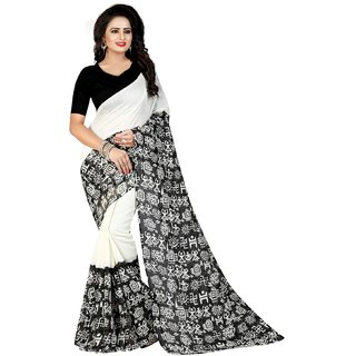 129f4be25304cd Buy Wilori Black Cotton Saree Online   ₹499 from ShopClues