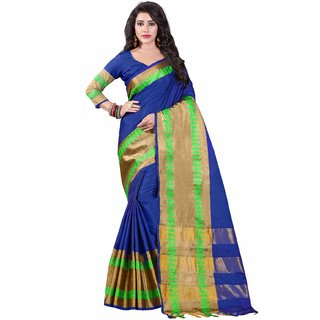 Wilori Blue Cotton Saree