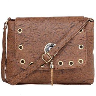 d75b9dea21 Buy Adlyn Brown Faux Leather Shoulder Bag for Women   Girls Online ...