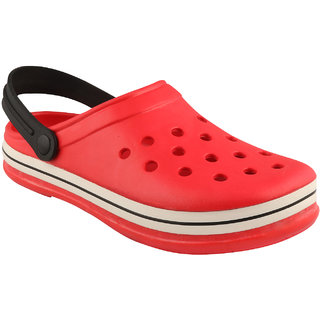 Birde Red EVA Slip-On Clogs For Mens