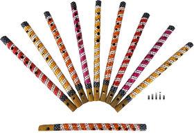 Multicolor Radhe Krishna Basuri / Murli / Bansi /Flute 10 Inches
