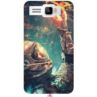 Snooky Printed 946 Astronaut Wallpaper Mobile Back Cover Of Intex Aqua R3 Plus Multi