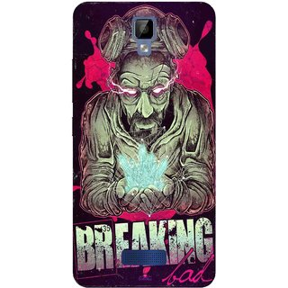 Snooky Printed 970,Breaking Bad Mobile Back Cover of Gionee P7 Max - Multi