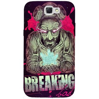 Snooky Printed 970,Breaking Bad Mobile Back Cover of Samsung Galaxy Note 2 - Multi