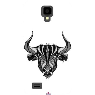 Snooky Printed 971,Bull Mobile Back Cover of Gionee Pioneer P2S - Multi