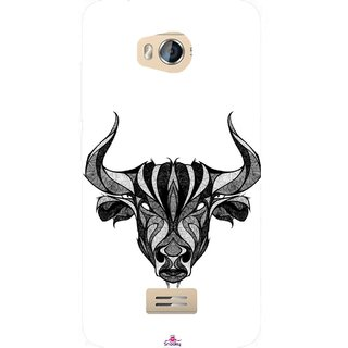 Snooky Printed 971,Bull Mobile Back Cover of Micromax Bolt Q336 - Multi
