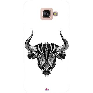 Snooky Printed 971,Bull Mobile Back Cover of Samsung Galaxy A7 2016 - Multi