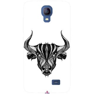 Snooky Printed 971,Bull Mobile Back Cover of Micromax Bolt Q383 - Multi