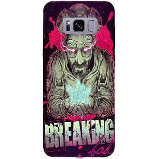 Snooky Printed 970,Breaking Bad Mobile Back Cover of Samsung Galaxy S8 - Multi