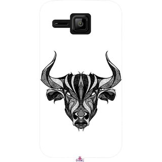 Snooky Printed 971,Bull Mobile Back Cover of Micromax Bolt S301 - Multi