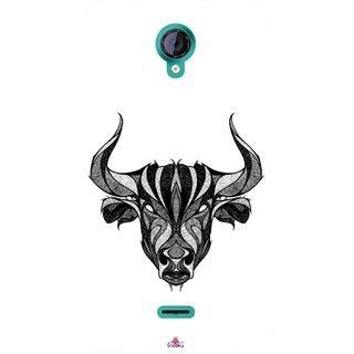 Snooky Printed 971,Bull Mobile Back Cover of Micromax Canvas Unite 2 - Multi