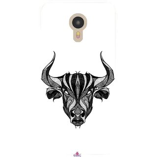 Snooky Printed 971,Bull Mobile Back Cover of Micromax YU Yunicorn - Multi