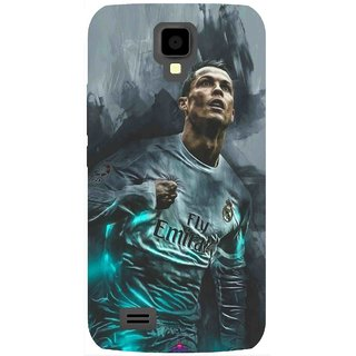 Snooky Printed 981,cristiano ronaldo Mobile Back Cover of Gionee Pioneer P2S - Multi
