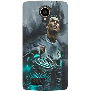 Snooky Printed 981,cristiano ronaldo Mobile Back Cover of LYF Flame 7 - Multi