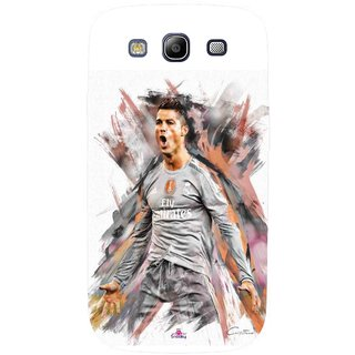 Snooky Printed 980,cristiano ronaldo fan art Mobile Back Cover of Samsung Galaxy S3 - Multi