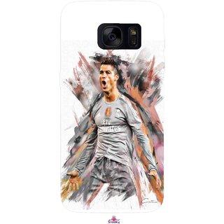 Snooky Printed 980,cristiano ronaldo fan art Mobile Back Cover of Samsung Galaxy S7 - Multi