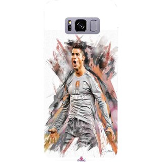 Snooky Printed 980,cristiano ronaldo fan art Mobile Back Cover of Samsung Galaxy S8 Plus - Multi