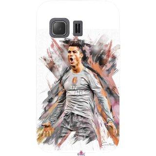Snooky Printed 980,cristiano ronaldo fan art Mobile Back Cover of Samsung Galaxy Young 2 - Multi