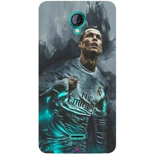 Snooky Printed 981,cristiano ronaldo Mobile Back Cover of Micromax Canvas Unite 2 - Multi