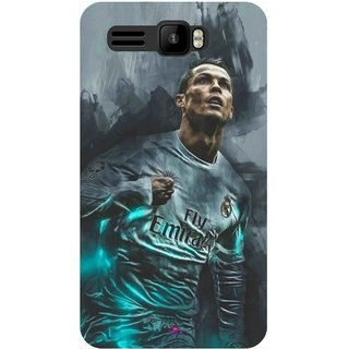 Snooky Printed 981,cristiano ronaldo Mobile Back Cover of Intex Aqua R3 - Multi