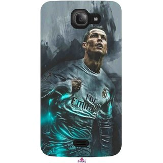 Snooky Printed 981,cristiano ronaldo Mobile Back Cover of Intex Aqua Wave - Multi