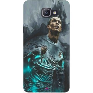 Snooky Printed 981,cristiano ronaldo Mobile Back Cover of Samsung Galaxy A9 Pro - Multi
