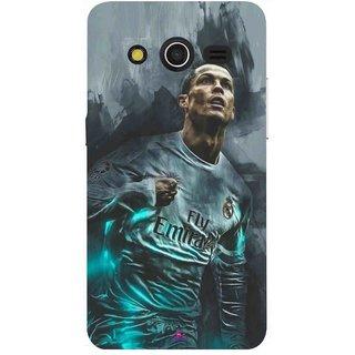 Snooky Printed 981,cristiano ronaldo Mobile Back Cover of Samsung Galaxy Core 2 - Multi