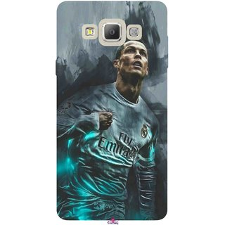 Snooky Printed 981,cristiano ronaldo Mobile Back Cover of Samsung Galaxy E5 - Multi