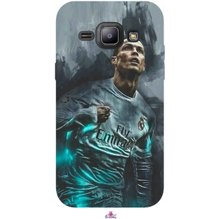 Snooky Printed 981,cristiano ronaldo Mobile Back Cover of Samsung Galaxy J1 - Multi
