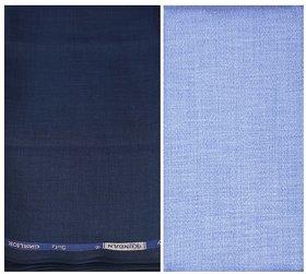 Kundan Sulz Gwalior Men's Executive Shirt & Trouser Fabric Combo Set ( 1 Pant and Shirt Piece for Men )