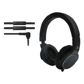 ha wired abs HWKC520 headphone Black
