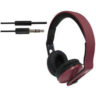 ha wired abs HWKC540 headphone Brown