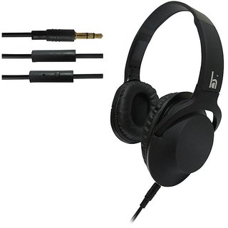 ha wired abs HWKC500 headphone Black