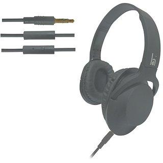 ha wired abs HWKC500 headphone Grey