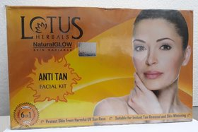 lotus herbals natural glow skin radiance anti tan facial kit 600g