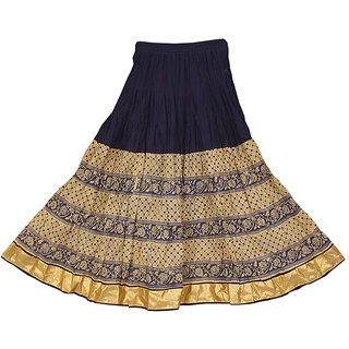 83a1a5d15b1 Buy Adiboo Long Skirt cotton made Navy Blue and Biege colored printed for  girls 6-11 years. Online - Get 58% Off