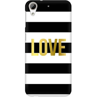 Mobicture Love Premium Printed High Quality Polycarbonate Hard Back Case Cover For HTC Desire 626 With Edge To Edge Printing