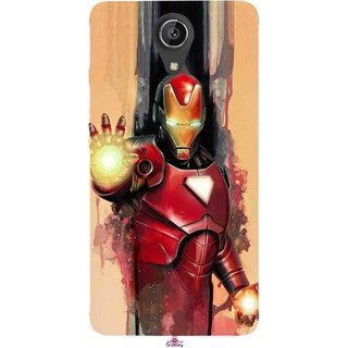 Snooky Printed 1019,Iron Man Painting Mobile Back Cover of Intex Aqua Freedom - Multi