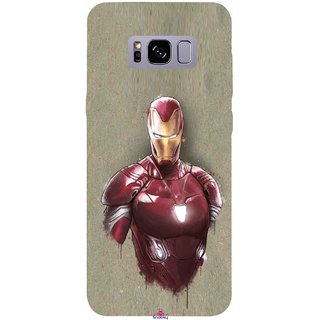 Snooky Printed 1018,Iron Man movie Mobile Back Cover of Samsung Galaxy S8 - Multi