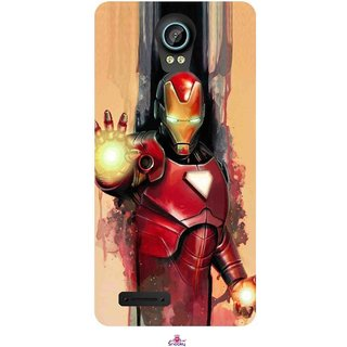 Snooky Printed 1019,Iron Man Painting Mobile Back Cover of Intex Aqua Life 2 - Multi