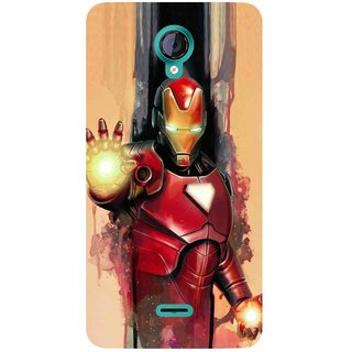 Snooky Printed 1019,Iron Man Painting Mobile Back Cover of Micromax Canvas Unite 2 - Multi