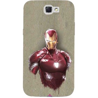 Snooky Printed 1018,Iron Man movie Mobile Back Cover of Samsung Galaxy Note 2 - Multi