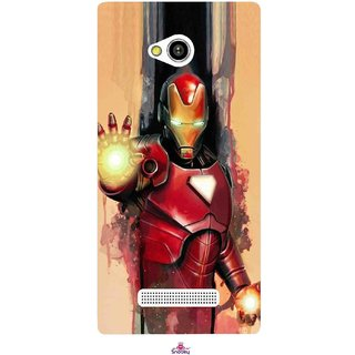 Snooky Printed 1019,Iron Man Painting Mobile Back Cover of Lava Flair Z1 - Multi
