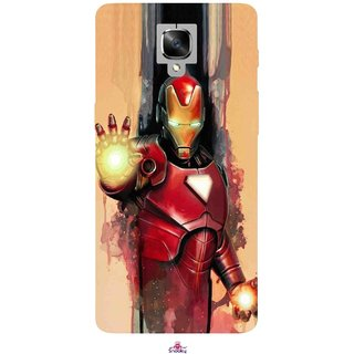 Snooky Printed 1019,Iron Man Painting Mobile Back Cover of OnePlus 3 - Multi